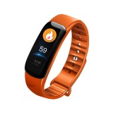 C1S 0.96 inches IPS Color Screen Smart Bracelet IP67 Waterproof, Support Call Reminder / Heart Rate Monitoring / Blood Pressure Monitoring / Sleep Monitoring / Sedentary Reminder / Remote Control (Orange)