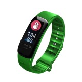 C1S 0.96 inches IPS Color Screen Smart Bracelet IP67 Waterproof, Support Call Reminder / Heart Rate Monitoring / Blood Pressure Monitoring / Sleep Monitoring / Sedentary Reminder / Remote Control (Green)