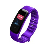 C1S 0.96 inches IPS Color Screen Smart Bracelet IP67 Waterproof, Support Call Reminder / Heart Rate Monitoring / Blood Pressure Monitoring / Sleep Monitoring / Sedentary Reminder / Remote Control (Purple)