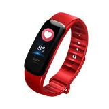 C1S 0.96 inches IPS Color Screen Smart Bracelet IP67 Waterproof, Support Call Reminder / Heart Rate Monitoring / Blood Pressure Monitoring / Sleep Monitoring / Sedentary Reminder / Remote Control (Red)