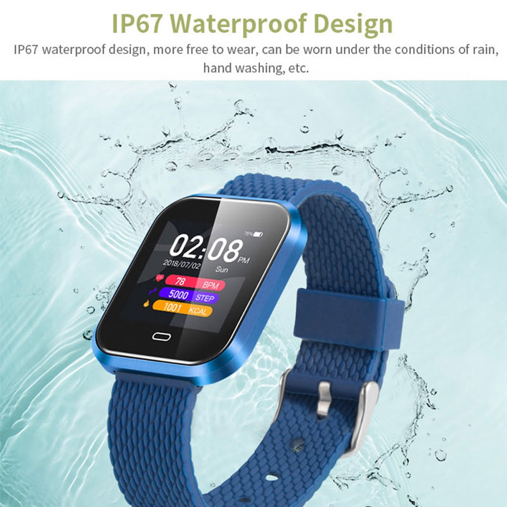 CD16 1.3 inch TFT Color Screen Smart Bracelet IP67 Waterproof, Camouflage Watchband, Support Call Reminder / Heart Rate Monitoring / Sleep Monitoring / Multi-sport Mode (Black)