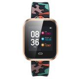 CD16 1.3 inch TFT Color Screen Smart Bracelet IP67 Waterproof, Camouflage Watchband, Support Call Reminder / Heart Rate Monitoring / Sleep Monitoring / Multi-sport Mode (Gold)