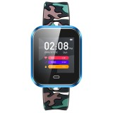 CD16 1.3 inch TFT Color Screen Smart Bracelet IP67 Waterproof, Camouflage Watchband, Support Call Reminder / Heart Rate Monitoring / Sleep Monitoring / Multi-sport Mode (Blue)