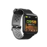 DM06 1.3 inch IPS Color Screen Smart Bracelet IP68 Waterproof, Support Call Reminder / Heart Rate Monitoring / Sleep Monitoring / Sedentary Reminder (Black Grey)