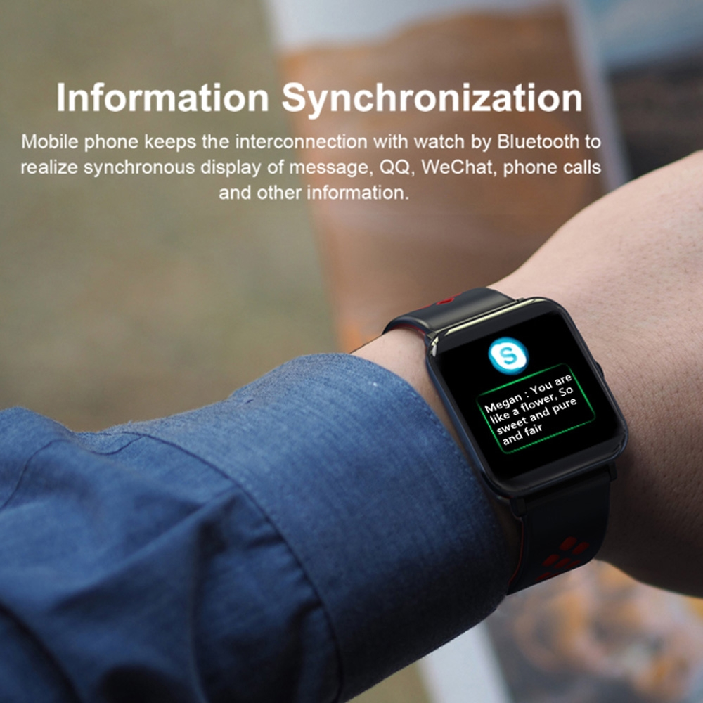 DM06 1.3 inch IPS Color Screen Smart Bracelet IP68 Waterproof, Support Call Reminder / Heart Rate Monitoring / Sleep Monitoring / Sedentary Reminder (Black Blue)