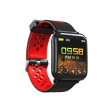 DM06 1.3 inch IPS Color Screen Smart Bracelet IP68 Waterproof, Support Call Reminder / Heart Rate Monitoring / Sleep Monitoring / Sedentary Reminder (Black Red)