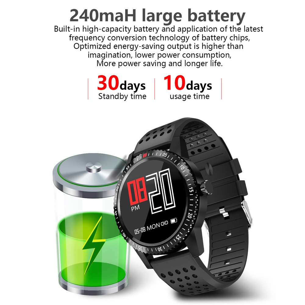 T1 1.3 inch TFT Color Screen Smart Bracelet IP67 Waterproof, Support Call Reminder / Heart Rate Monitoring / Blood Pressure Monitoring / Sleep Monitoring / Sedentary Reminder (Black Red)
