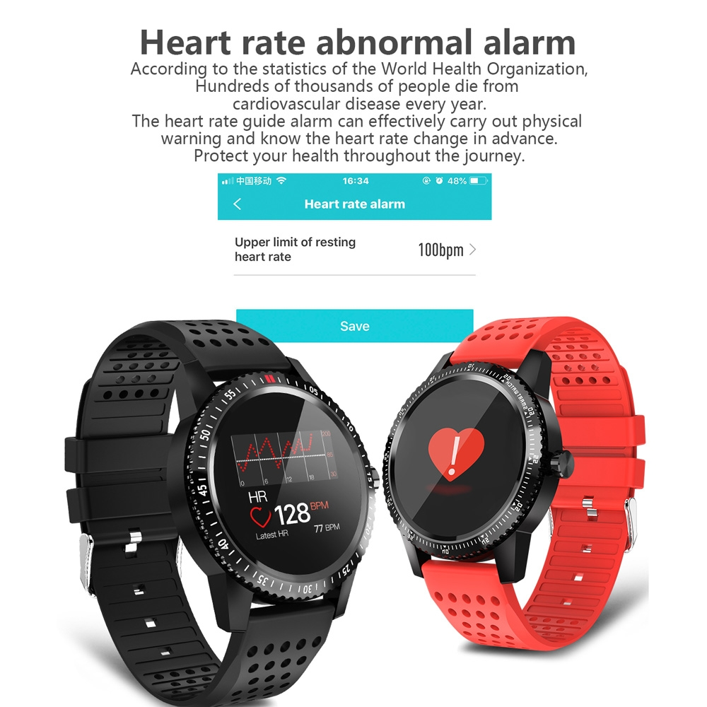 T1 1.3 inch TFT Color Screen Smart Bracelet IP67 Waterproof, Support Call Reminder / Heart Rate Monitoring / Blood Pressure Monitoring / Sleep Monitoring / Sedentary Reminder (Black)