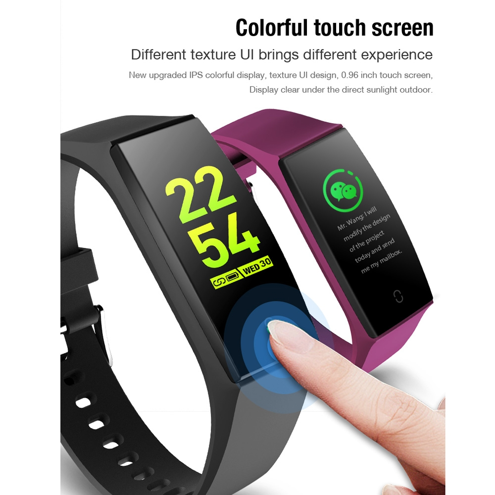 V18 0.96 inch IPS Color Screen Smart Bracelet IP67 Waterproof, Support Call Reminder / Heart Rate Monitoring / Blood Pressure Monitoring / Sleep Monitoring / Remote Photography (Blue)