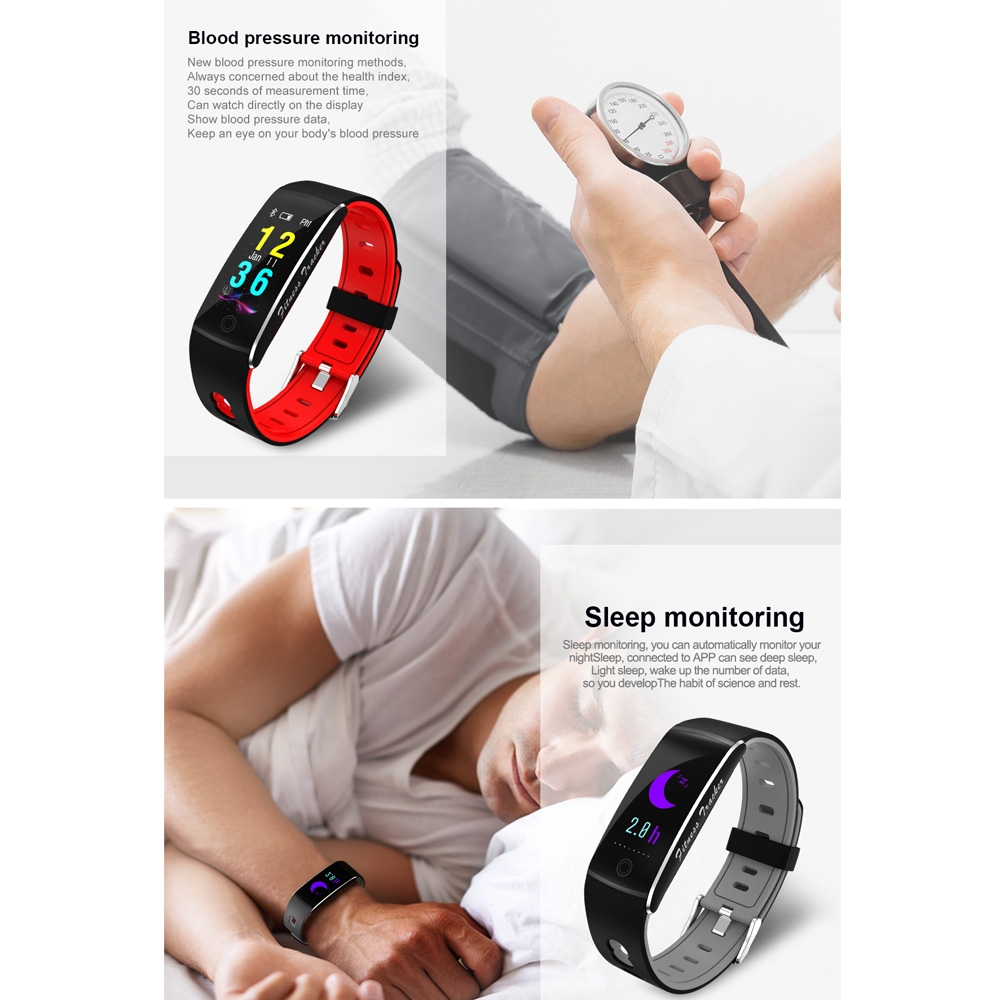 F10 0.96 inch TFT Color Screen Smart Bracelet IP67 Waterproof, Support Call Reminder / Heart Rate Monitoring / Blood Pressure Monitoring / Sleep Monitoring / Blood Oxygen Monitoring (Orange)