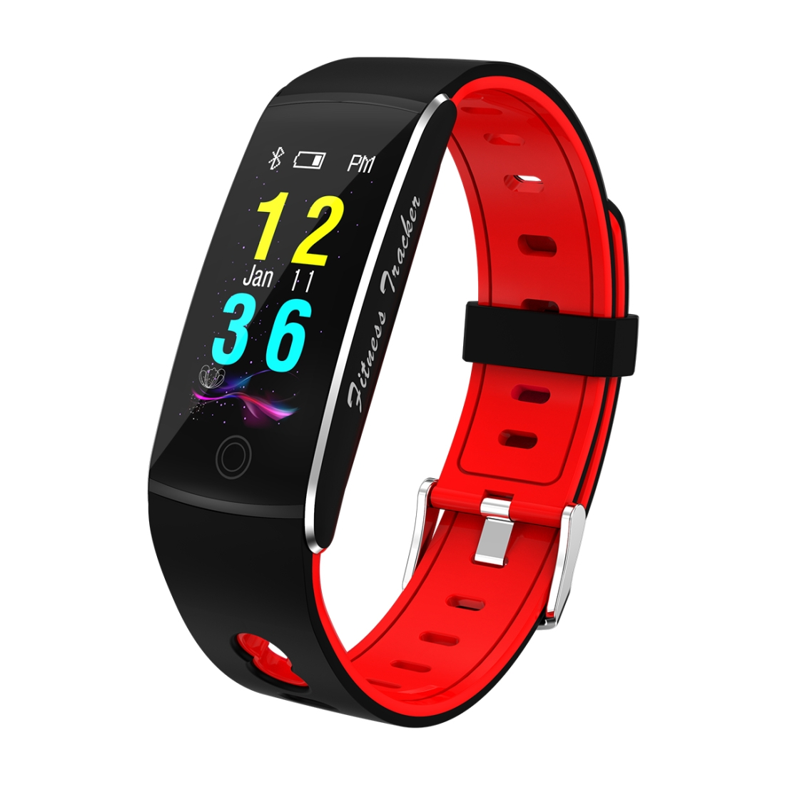 F10 0.96 inch TFT Color Screen Smart Bracelet IP67 Waterproof, Support Call Reminder / Heart Rate Monitoring / Blood Pressure Monitoring / Sleep Monitoring / Blood Oxygen Monitoring (Red)