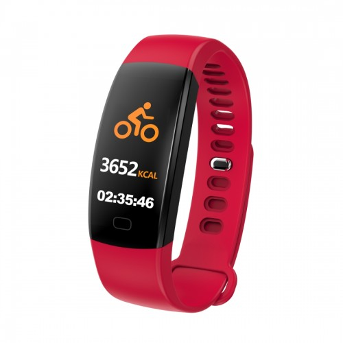 F64HR 0.96 inch TFT Color Screen Smart Bracelet IP68 Waterproof, Support Call Reminder / Heart Rate Monitoring / Blood Pressure Monitoring / Sleep Monitoring / Blood Oxygen Monitoring (Red)