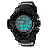 SKMEI 1380 Men Fashionable Outdoor 50m Waterproof Digital Watch Large Dial Sports Wrist Watch (Black)