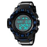 SKMEI 1380 Men Fashionable Outdoor 50m Waterproof Digital Watch Large Dial Sports Wrist Watch (Blue)