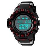 SKMEI 1380 Men Fashionable Outdoor 50m Waterproof Digital Watch Large Dial Sports Wrist Watch (Red)