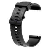 Silicone Sport Wrist Strap for Garmin Vivoactive 3 20mm (Black)