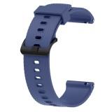 Silicone Sport Wrist Strap for Garmin Vivoactive 3 20mm (Dark Blue)