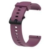 Silicone Sport Wrist Strap for Garmin Vivoactive 3 20mm (Purple)