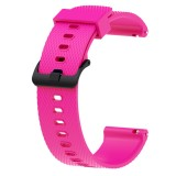 Silicone Sport Wrist Strap for Garmin Vivoactive 3 20mm (Rose Red)
