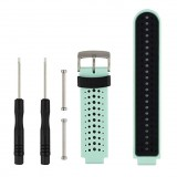 Two-colour Silicone Sport Wrist Strap for Garmin Forerunner 230 / 235 / 620 / 630 / 735XT (Black+green)
