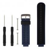 Two-colour Silicone Sport Wrist Strap for Garmin Forerunner 230 / 235 / 620 / 630 / 735XT (Black Blue)