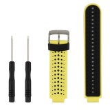 Two-colour Silicone Sport Wrist Strap for Garmin Forerunner 230 / 235 / 620 / 630 / 735XT (Black Yellow)