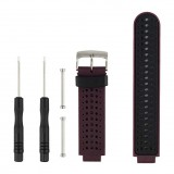 Two-colour Silicone Sport Wrist Strap for Garmin Forerunner 230 / 235 / 620 / 630 / 735XT (Purple)