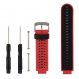 Two-colour Silicone Sport Wrist Strap for Garmin Forerunner 230 / 235 / 620 / 630 / 735XT (Red Black)