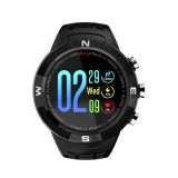 F18 1.3inch IP68 Waterproof Smartwatch Bluetooth 4.2, Support Incoming Call Reminder / Heart Rate Detection / Sleep Monitoring (Black)