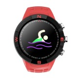 F18 1.3inch IP68 Waterproof Smartwatch Bluetooth 4.2, Support Incoming Call Reminder / Heart Rate Detection / Sleep Monitoring (Red)