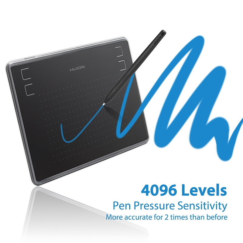 HUION Inspiroy Series H430P 5080LPI Professional Art USB Graphics Drawing Tablet for Windows / Mac OS, with Battery-free Pen
