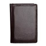 1005 Antimagnetic RFIDMultifunctional Litchi Texture Women Large Capacity Passport Hand Wallet with Card Slots (Coffee)