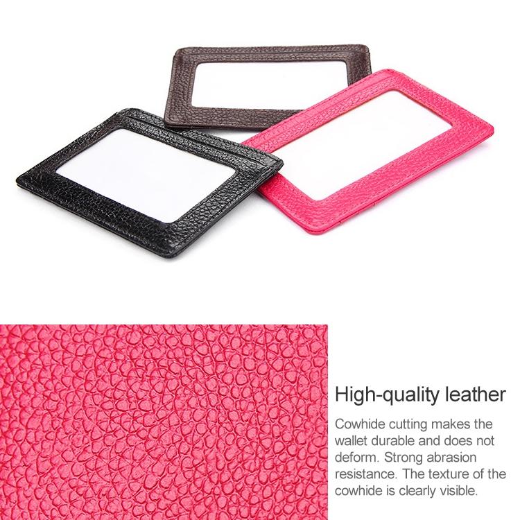 KB37 Antimagnetic RFID Litchi Texture Leather Card Holder Wallet Billfold for Men and Women (Pink)
