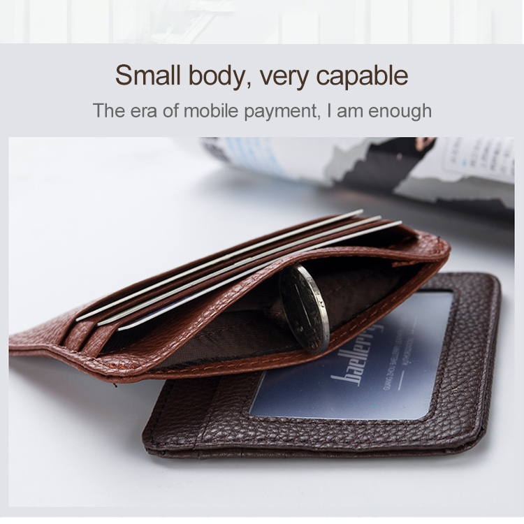 KB37 Antimagnetic RFID Litchi Texture Leather Card Holder Wallet Billfold for Men and Women (Lake Blue)