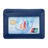KB37 Antimagnetic RFID Litchi Texture Leather Card Holder Wallet Billfold for Men and Women (Blue)