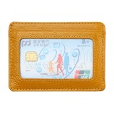 KB37 Antimagnetic RFID Litchi Texture Leather Card Holder Wallet Billfold for Men and Women (Yellow)