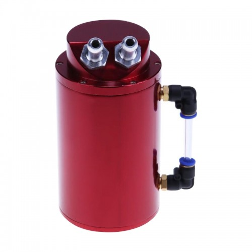 Automotive Round Oil Filter Pot Power Modified Engine Oil Breathable Pot (Red)