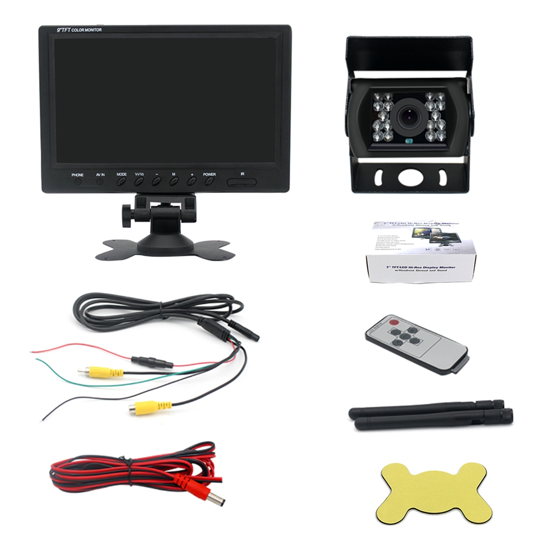 PZ-610-W 9 inch Wireless Single Cameras Rear View Camera Infrared Night Vision Rear View Parking Reversing System