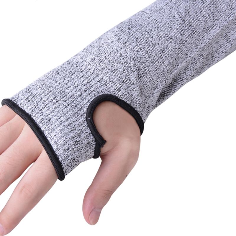 Elastic Breathable Anti-cut Elbow Arm Sleeve HPPE Protective Gear, Length: 45cm
