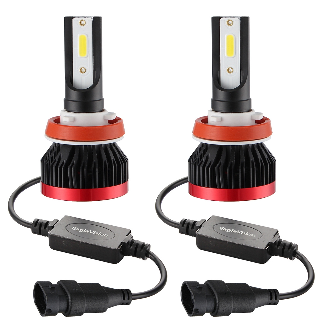 2 PCS EV7 H8 / H9 / H11 DC 9-32V 36W 3000LM 6000K IP67 LED Car Headlight Lamps, with Mini LED Driver and Cable (White Light)