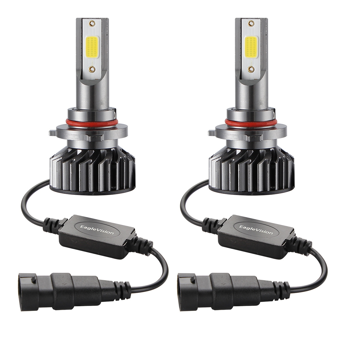 2 PCS EV8 HB3 / 9005 DC 9-32V 36W 3000LM 6000K IP67 DOB LED Car Headlight Lamps, with Mini LED Driver and Cable (White Light)