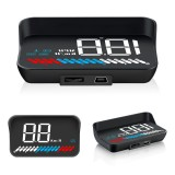 M7 3.5 inch Universal Car OBD2 + GPS HUD Vehicle-mounted Head Up Display Fuel Consumption
