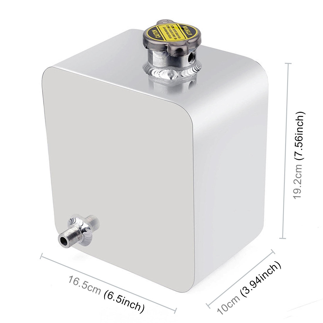 Car Modified Aluminum Alloy Vice Water Tank (Silver)