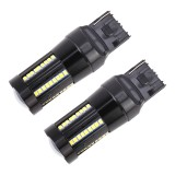 2 PCS T20 / 7443 DC9-16V / 8.2W (H) 2.7W (L) / 6000K / 655LM Car Auto Brake Lights 66LEDs SMD-2016 Lamps