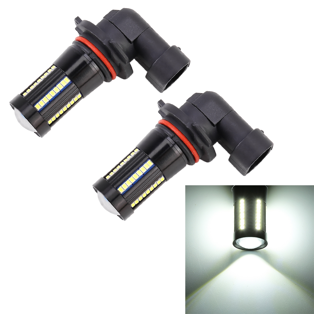 2 PCS 9005 DC9-16V / 8.2W / 6000K / 655LM Car Auto Fog Light 66LEDs SMD-2016 Lamps