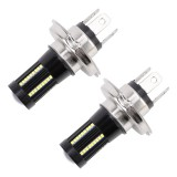 2 PCS H4 DC9-16V / 8.2W (H) 2.7W (L) / 6000K / 655LM Car Auto Fog Light 66LEDs SMD-2016 Lamps