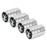 4 PCS Aluminum Alloy Gas Cap Mouthpiece Cover Gas Cap Tire Cap Car Motor Bicycle Tire Valve Caps