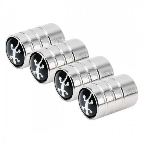 4 PCS Aluminum Alloy Gas Cap Mouthpiece Cover Gas Cap Tire Cap Car Motor Bicycle Tire Valve Caps