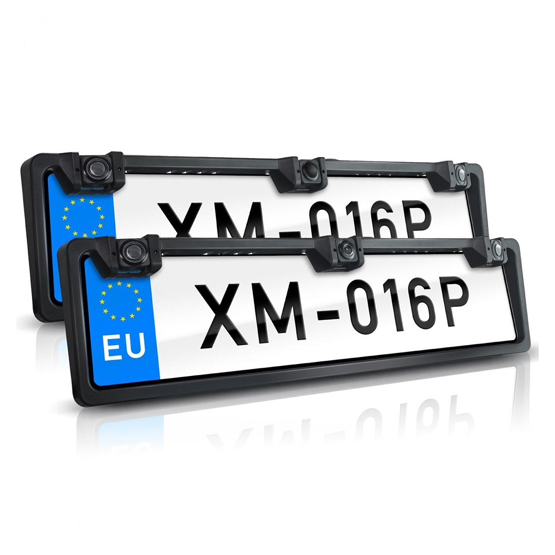 PZ600L-2 Europe Car License Plate Frame Front Rear View ...