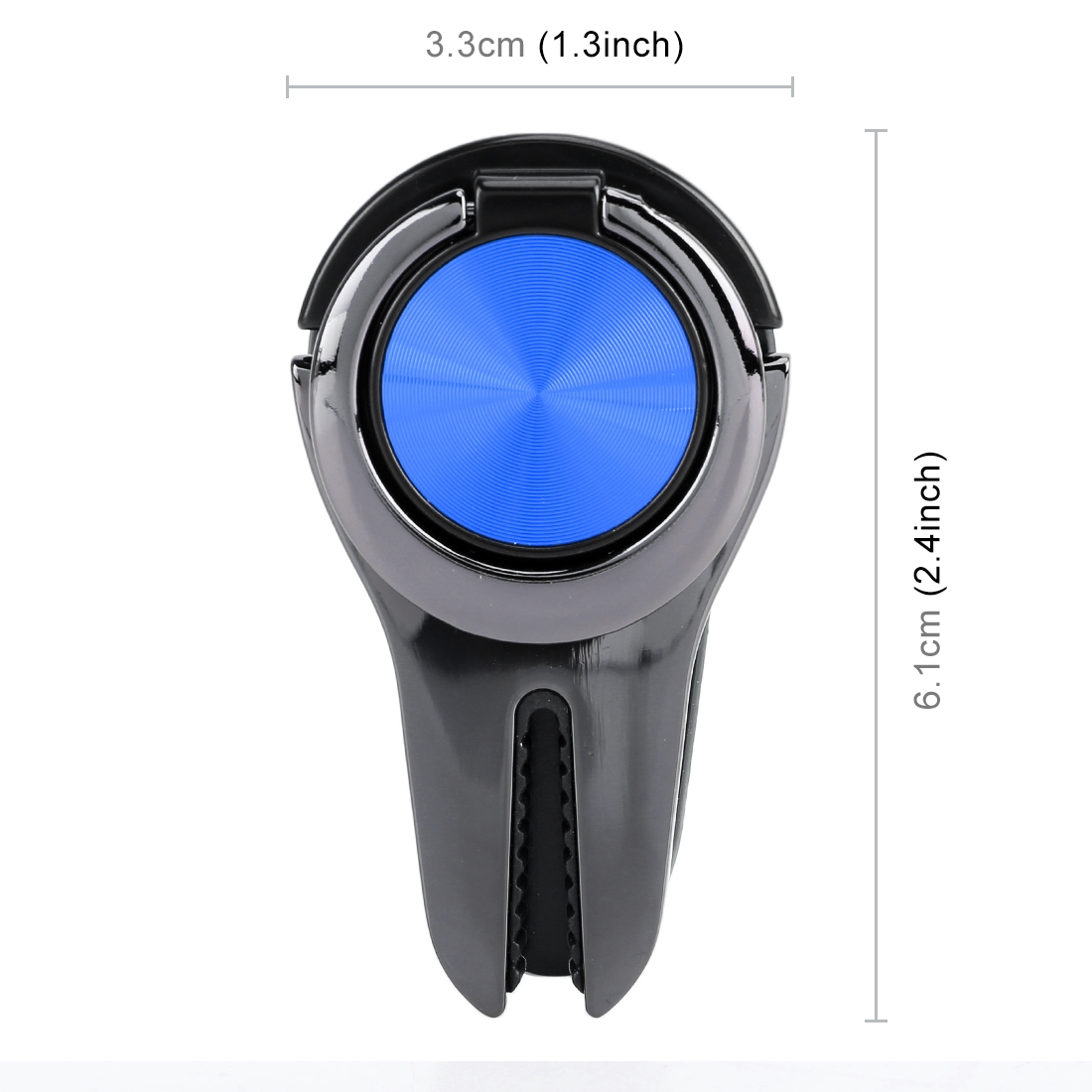 Universal Magnetic Car Air Vent Mount Phone Holder, Car Air Vent Mount Universal Ring Phone Holder (Blue)